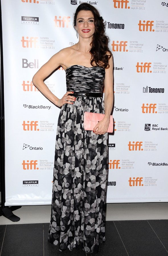 Rachel Weisz rocks floor-length florals at Toronto Film Festival
