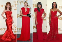 Red hot: The stars put the 'red' in red carpet at the Emmys
