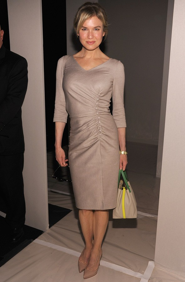 Renee Zellweger at Carolina Herrera, New York Fashion Week