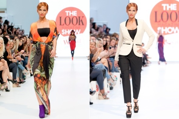 Sarah Harding shows off new red hairstyle on the catwalk at London Fashion Week