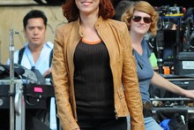 Red hot: Scarlett Johansson on The Avengers set in New York