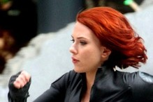 Sneak peek: See redhead Scarlett Johansson in action on Avengers set