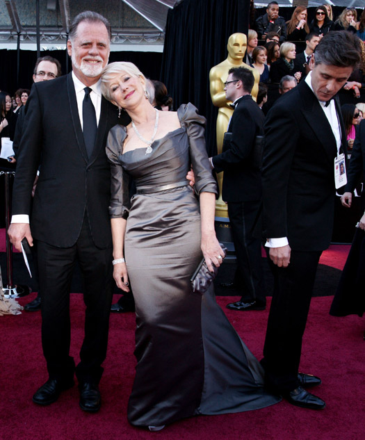 Helen Mirren and a handy bystander