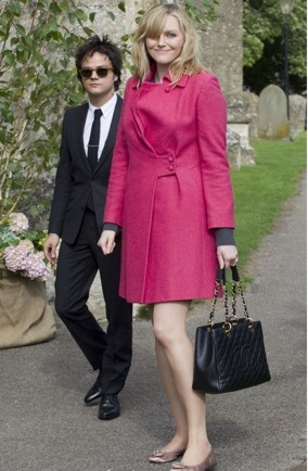 Sophie Dahl's hot-pink wedding style