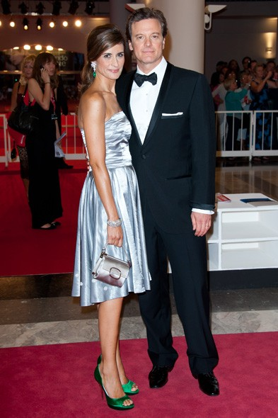 Livia and Colin Firth at the Tinker Tailor Soldier Spy premiere