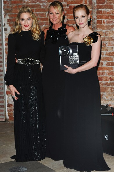 Madonna, Frida Giannini and Jessica Chastain