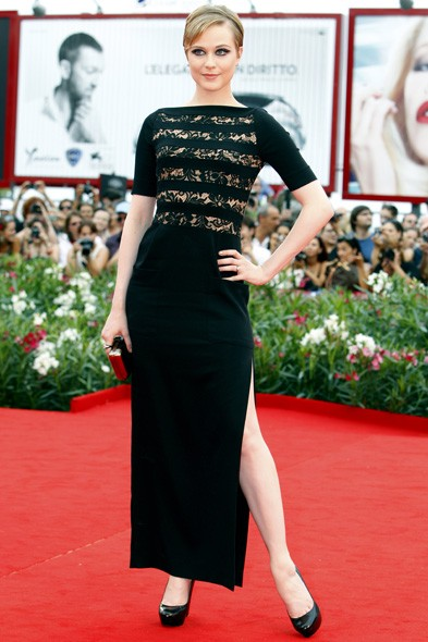 Evan Rachel Wood at the Mildred Pierce premiere