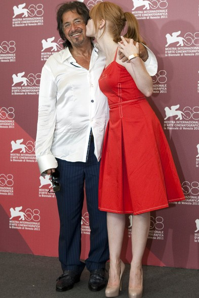 Al Pacino and Jessica Chastain at the Wilde Salome photo call