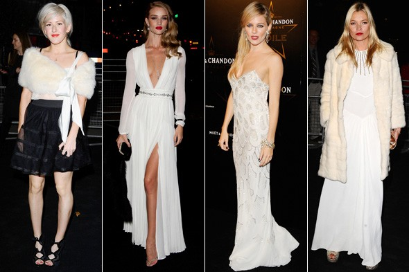 Stars get colour-matching for Moet & Chandon London Fashio Week bash