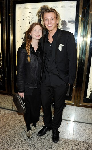Bonnie Wright, Jamie Campbell Bower - Anonymous premiere