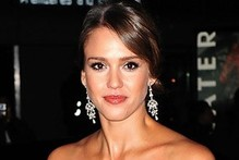 Jessica Alba gets glam in velvet column gown for Ralph Lauren party