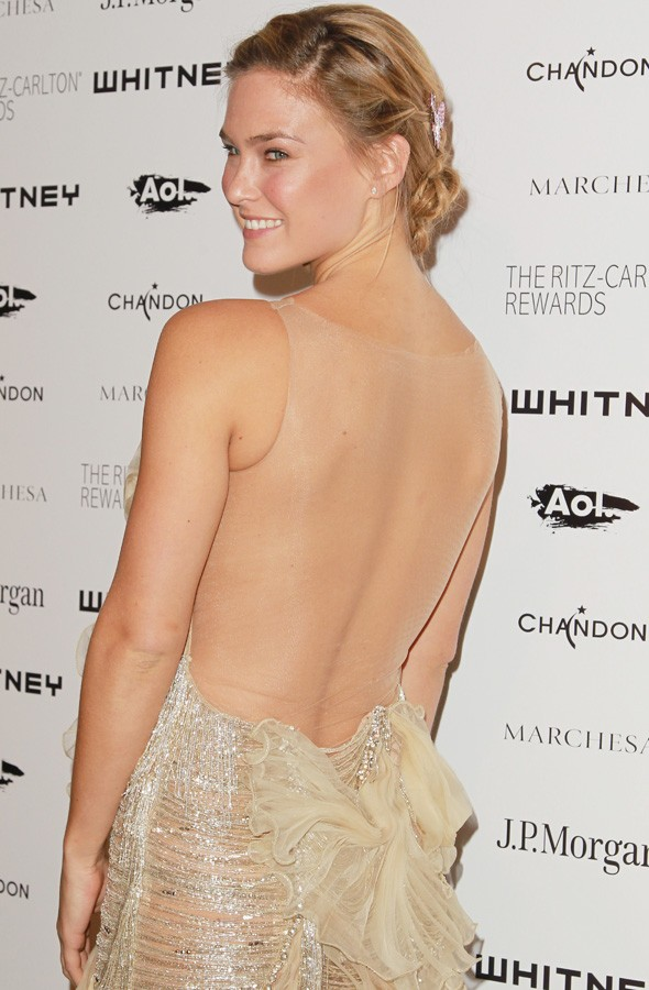 Bar Rafaeli dazzles in backless gown at New York gala