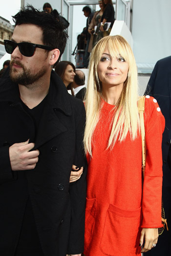 Nicole Richie and Joel Madden at Louis Vuitton