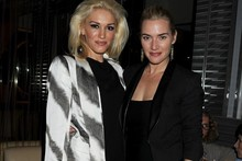 Double act: Gwen Stefani and Kate Winslet hit the town for book launch