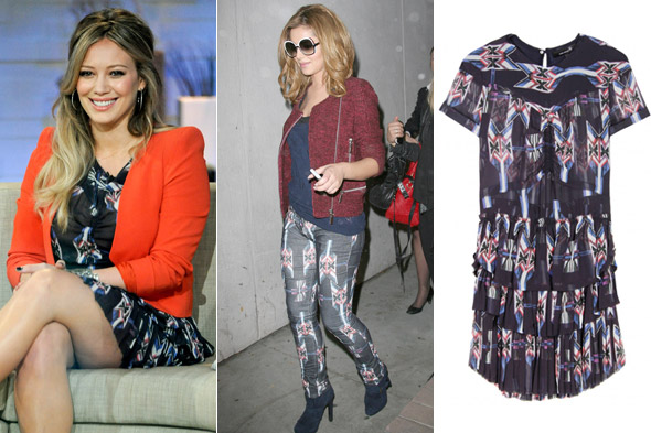 X Factor print alert: Where Chezza's leggings lead, Hilary Duff will follow