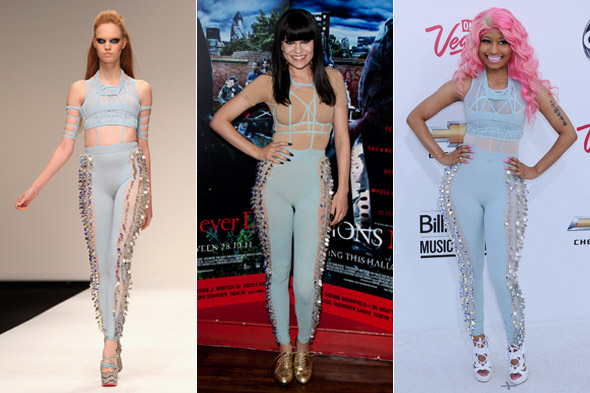 Jessie J steals Nicki Minaj's red carpet style