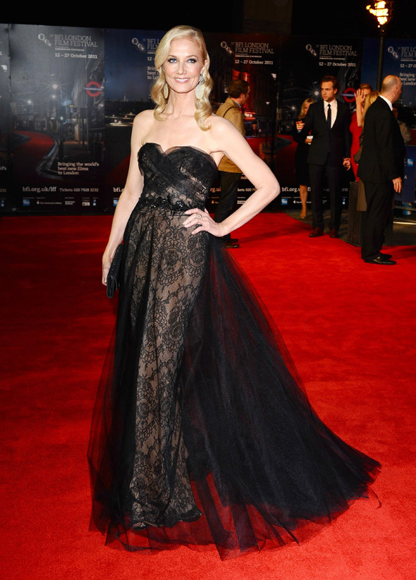 Wow. Joely Richardson is dressed to impress at LFF in theatrical tulle gown