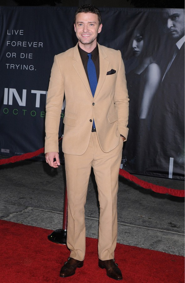 Justin Timberlake at the In Time LA premiere