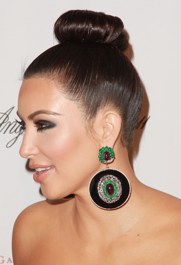 Hot or not: Kim Kardashian's super-slick ballerina bun