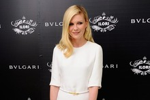 Lady in white: Kirsten Dunst goes glam at Bulgari launch party