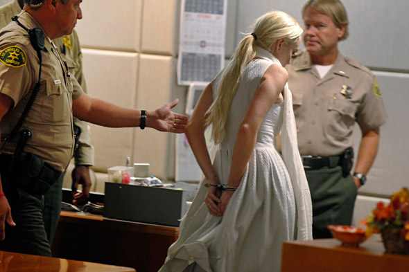 Lindsay Lohan's courtroom appearance