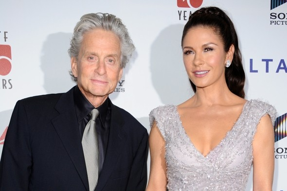 Catherine Zeta Jones DAZZLES on red carpet with Michael