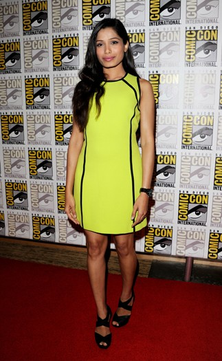 Freida Pinto at ComicCon