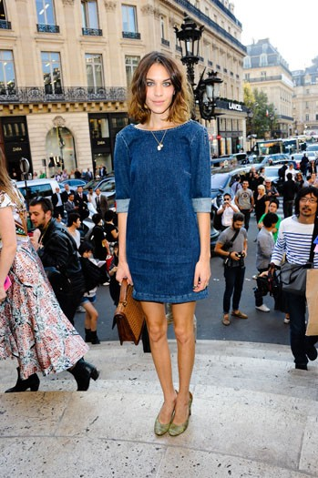 Alexa Chung arrives at Stella McCartney