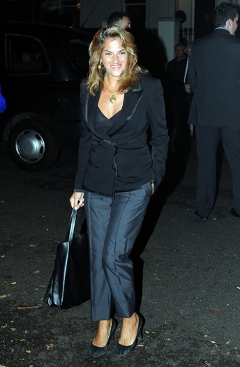 Tracey Emin arrives at the north London home of Sir Paul McCartney, following his marriage to Nancy Shevell
