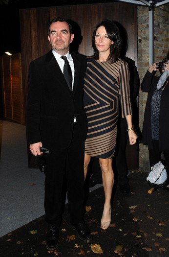 Mary McCartney and Simon Aboud arrive at the north London home of Sir Paul McCartney, following his marriage to Nancy Shevell