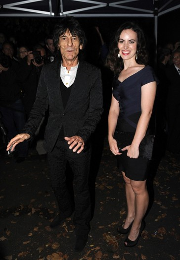 Ronnie Wood and and guest arrive at the north London home of Sir Paul McCartney, following his marriage to Nancy Shevell