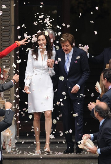 Sir Paul McCartney and Nancy Shevell marry at Marylebone Town Hall Registry Office, London