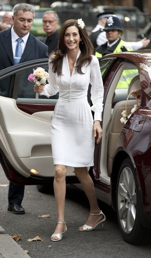 Nancy Shevell arrives  at Marylebone Town Hall Registry Office, London