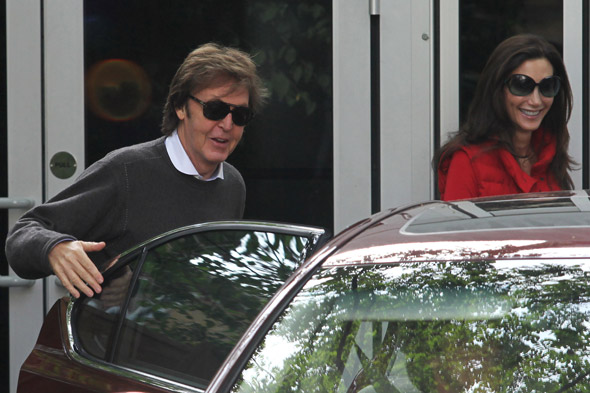 Paul McCartney and Nancy Shevell are all smiles on their first outing as man and wife