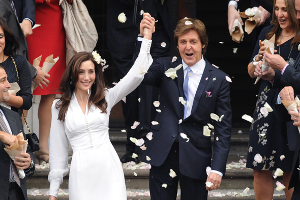 Sir Paul McCartney and Nancy Shevell get married
