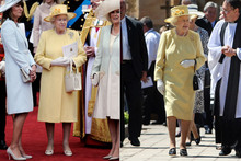 The Queen does 'a Kate' and re-wears Royal Wedding outfit in Australia