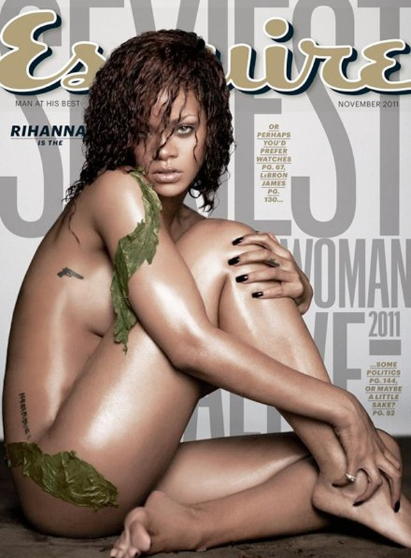 Rihanna goes naked on the cover of Esquire