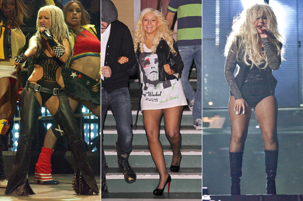 Memo to Christina Aguilera: Fishnets are not trousers