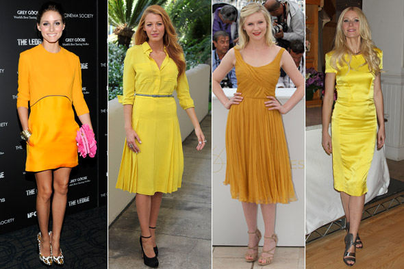 Sunshine superwomen: Celebs embrace the yellow trend