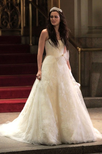 Uh oh. Is Blair a jilted bride?