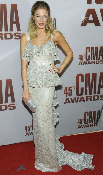 LeAnn Rimes in Badgley Mischka