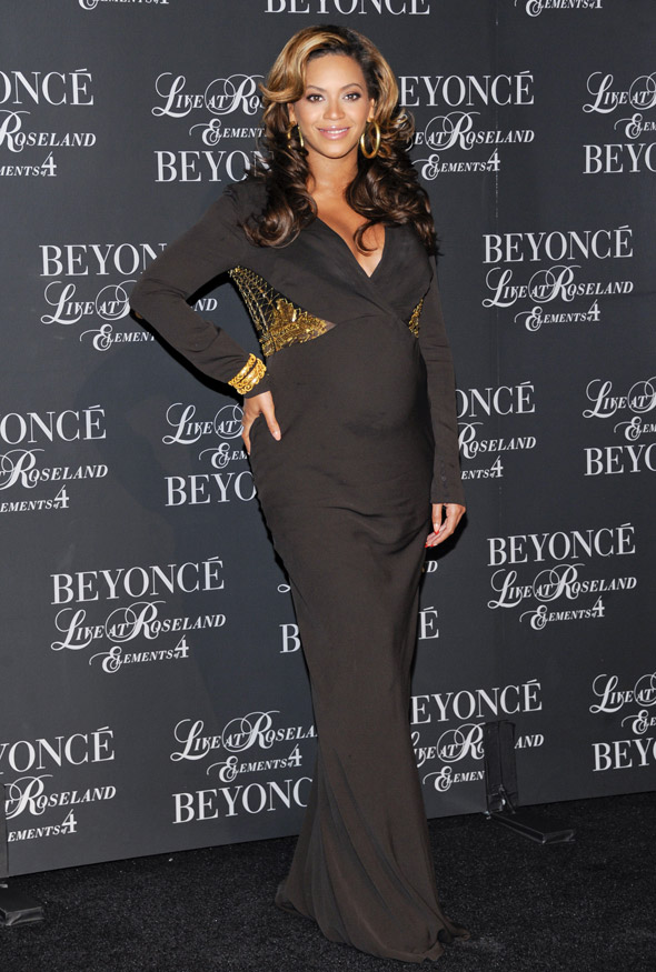 Mother-to-Bey: Beyonce sparkles on the black carpet for DVD launch