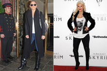 Battle of the boots: J-Lo vs Christina Aguilera