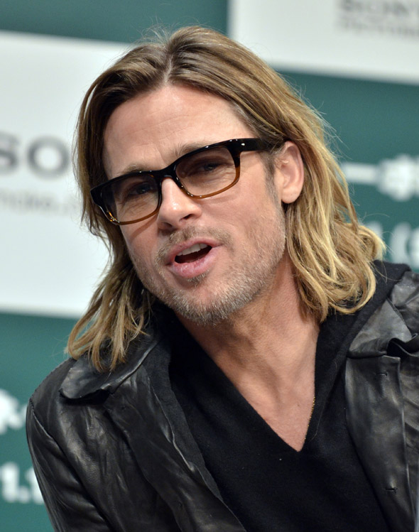 Hot or not: Brad Pitt in thick-rimmed specs