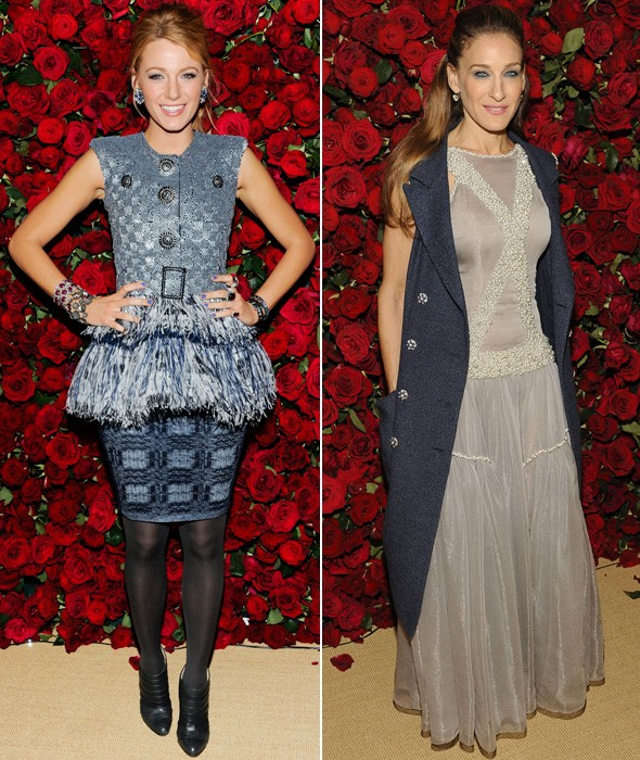 Blake Lively and Sarah Jessica Parker at the Muesum of Modern Art film benefit