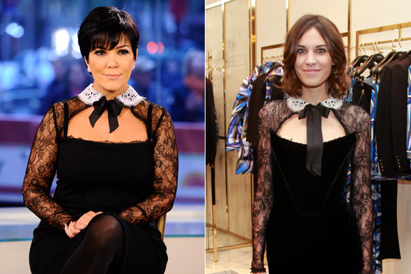 Fashion face-off: Kris Jenner and Alexa Chung