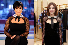 Fashion face-off: Kris Jenner and Alexa Chung in Pucci
