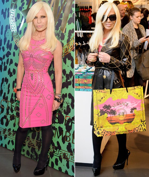 Donatella Versace launches H&M collection in London, as website crashes