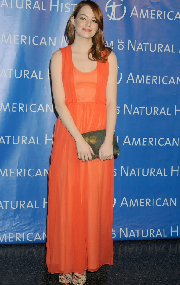 emma-stone Emma Stone at the American Museum of Natural History Gala. PA