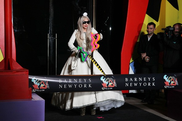 Lady Gaga opens her Gaga Christmas workshop at Barneys New York
